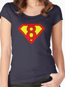 Superman 8 Women's Fitted Scoop T-Shirt