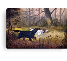 Vintage Dog painting Canvas Print