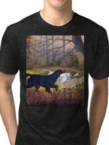 Vintage Dog painting Tri-blend T-Shirt