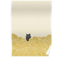 Cat and Wool Yarn Poster