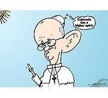 Colorado on the mind of Pope Francis webcomic Photographic Print