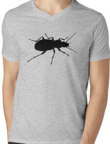 Black beetle silhouette Mens V-Neck T-Shirt