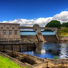 Pitlochry Dam and Fish Ladder by Tom Gomez