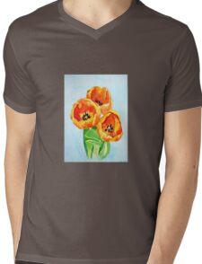 Beautiful Tulips Mens V-Neck T-Shirt