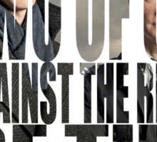 Just the Two of Us Sherlock Quote Sticker