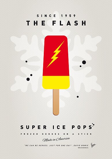 My SUPERHERO ICE POP - The Flash by Chungkong
