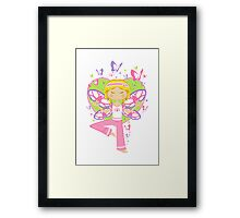 Yoga Girl with Butterflies Framed Print