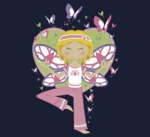 Yoga Girl with Butterflies Kids Tee