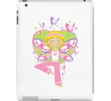 Yoga Girl with Butterflies iPad Case/Skin