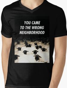 Wrong Neighborhood ! Mens V-Neck T-Shirt