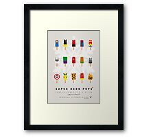 My SUPER ICE POP - Univers Framed Print