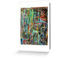 Abstract Matrix Greeting Card