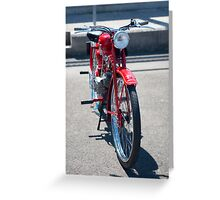 Moto Guzzi vintage motorcycle Greeting Card