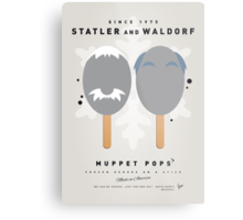 My MUPPET ICE POP - Statler and Waldorf Metal Print