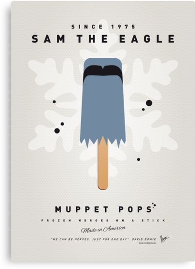 My MUPPET ICE POP - Sam the eagle by Chungkong