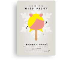My MUPPET ICE POP - Miss Piggy Canvas Print