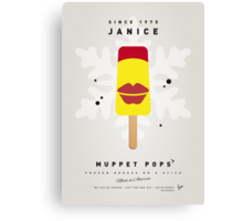 My MUPPET ICE POP - Janice Canvas Print