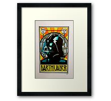 Darth Vader Art Nouveau Framed Print