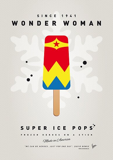 My SUPERHERO ICE POP - Wonder Woman by Chungkong