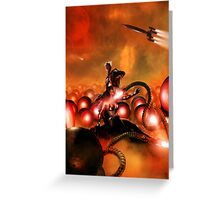 The Iron Beasts of Mars Greeting Card