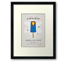 My SUPERHERO ICE POP - Superman Framed Print