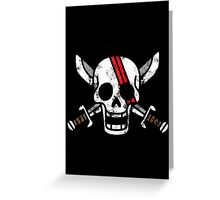 Red-Haired Shanks Jolly Roger Greeting Card