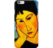 elvira resting at table iPhone Case/Skin