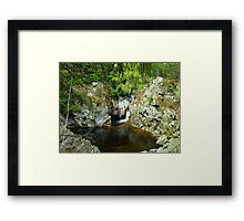 A pool on the Bruar Walk Framed Print