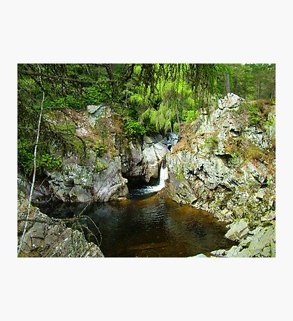 A pool on the Bruar Walk Photographic Print