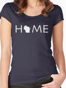 WISCONSIN HOME Women's Fitted Scoop T-Shirt