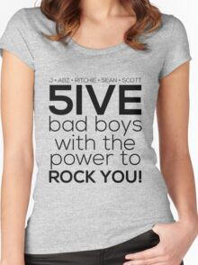 5ive Bad Boys with the Power to ROCK YOU! (original lineup - black version) Women's Fitted Scoop T-Shirt