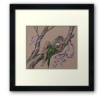 Tattooed Tree Elf - Just Hanging Around Framed Print