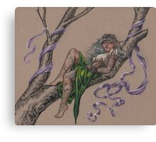 Tattooed Tree Elf - Just Hanging Around Canvas Print