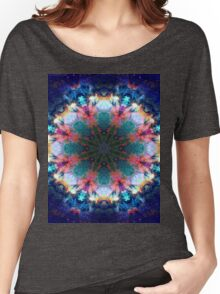 Trippy Rainbow Space Kaleidoscope Women's Relaxed Fit T-Shirt