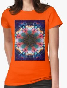 Trippy Rainbow Space Kaleidoscope Womens Fitted T-Shirt