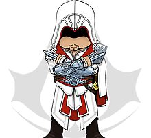 Assassin's Creed Brotherhood Chibi Ezio Auditore by SushiKittehs