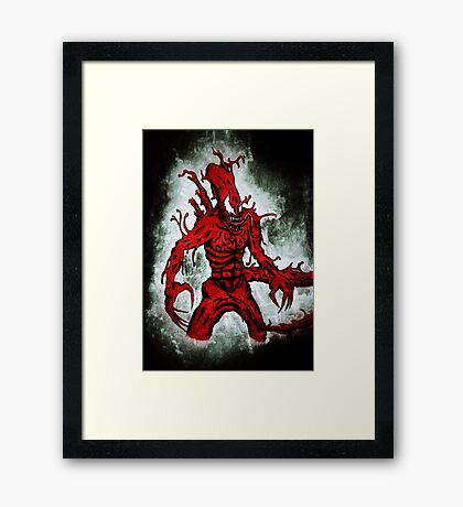 Symbiote Xenomorph Framed Print