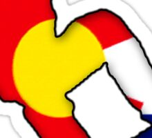 Colorado Flag Snowboarder Sticker