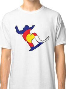 Colorado Flag Snowboarder Classic T-Shirt