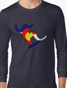 Colorado Flag Snowboarder Long Sleeve T-Shirt