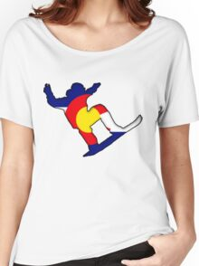 Colorado Flag Snowboarder Women's Relaxed Fit T-Shirt