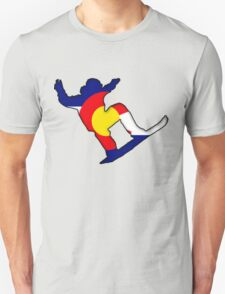Colorado Flag Snowboarder Unisex T-Shirt