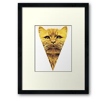jesus kitty Framed Print