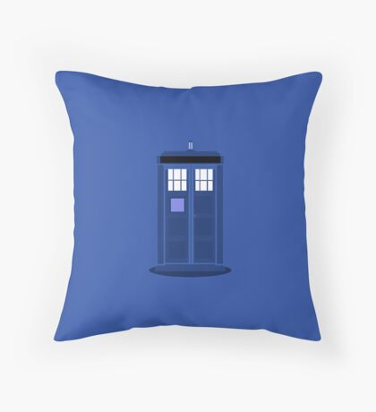 TARDIS: Time and Relative Dimension in Space Throw Pillow