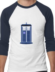 TARDIS: Time and Relative Dimension in Space Men's Baseball ¾ T-Shirt