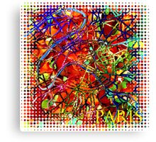 Contemporary Paris France Street Map by Mark Compton Canvas Print