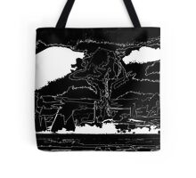 The End Black White Outline Tote Bag