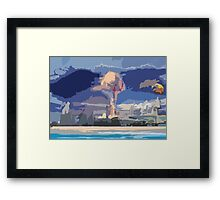 The End Abstract Framed Print