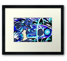 Lucario | Aura Sphere Framed Print