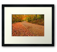As I walk along Mother natures beauty surrounds me, and holds me deeply within her embrace. Framed Print